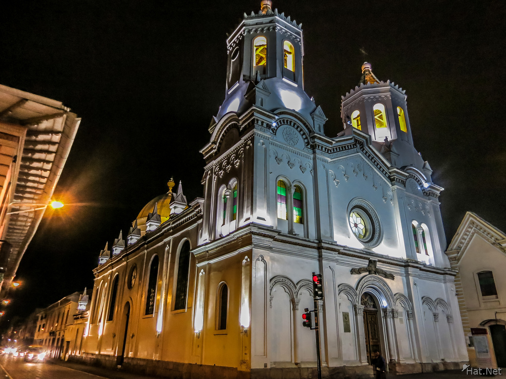 Cuenca Church at night