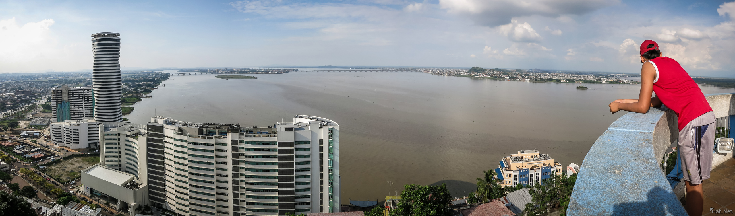 Guayaquil river Panorama from Las Penas