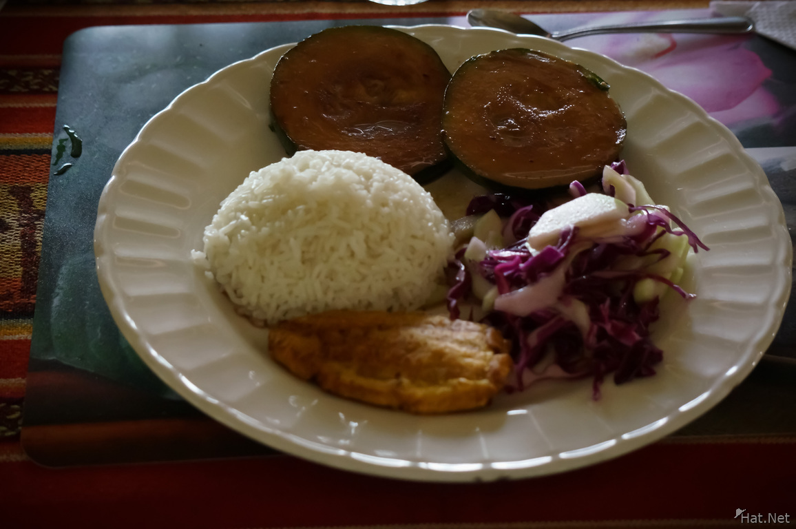 Amazon food in Gucamayo Lodge