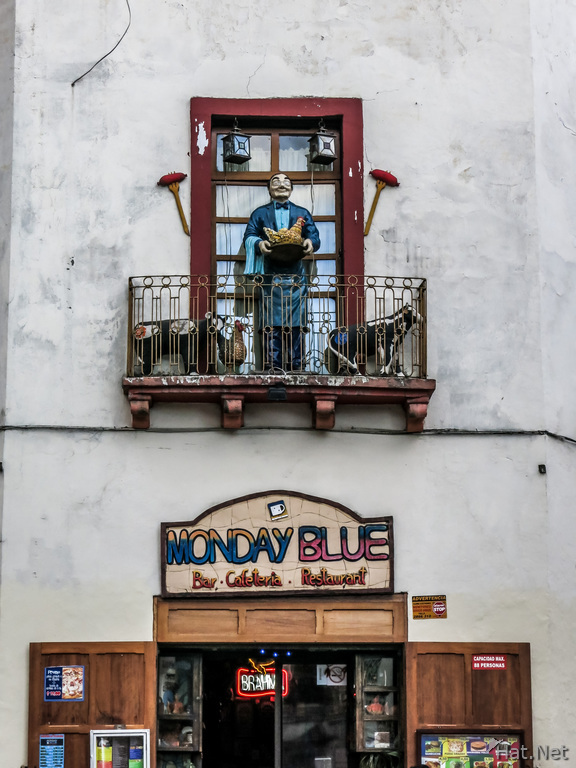 Monday blue bar cafteria