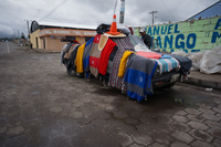 mobile carpet shop Chantilin,  Saquisilí,  Cotopaxi,  Ecuador, South America