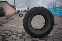 Tire rotation Saquisilí,  Cotopaxi,  Ecuador, South America