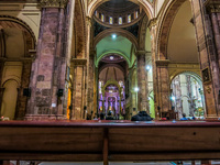 Inside new cathedral of Cuenca Cuenca, Ecuador, South America