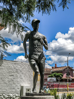 runner statue Cuenca, Ecuador, South America