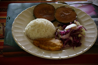Amazon food in Gucamayo Lodge Lago Agrio, Nueva Loja Cuyabeno Reserve, Ecuador, South America