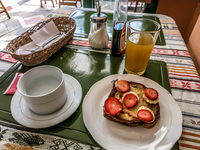 breakfast at Dreamkapture Guayaquil, Ecuador, South America